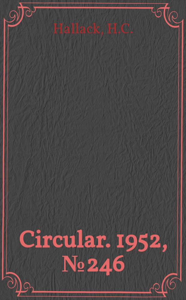 Circular. 1952, №246 : Life history and control of the Asiatic garden beetle (Revised 1936)