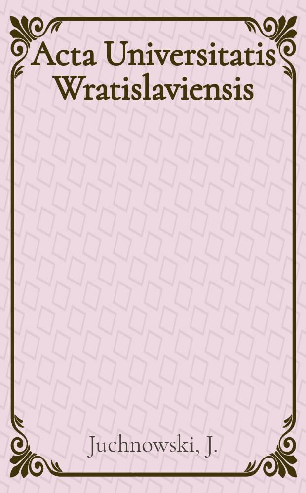 Acta Universitatis Wratislaviensis : Polski ruch socjalistyczny wobec..