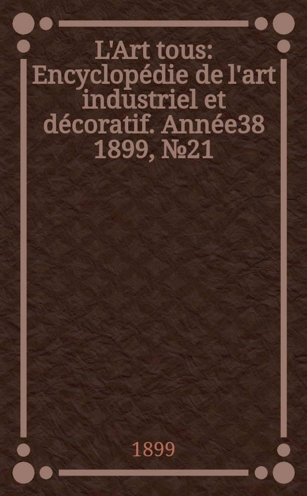 L'Art tous : Encyclopédie de l'art industriel et décoratif. Année38 1899, №21(946)