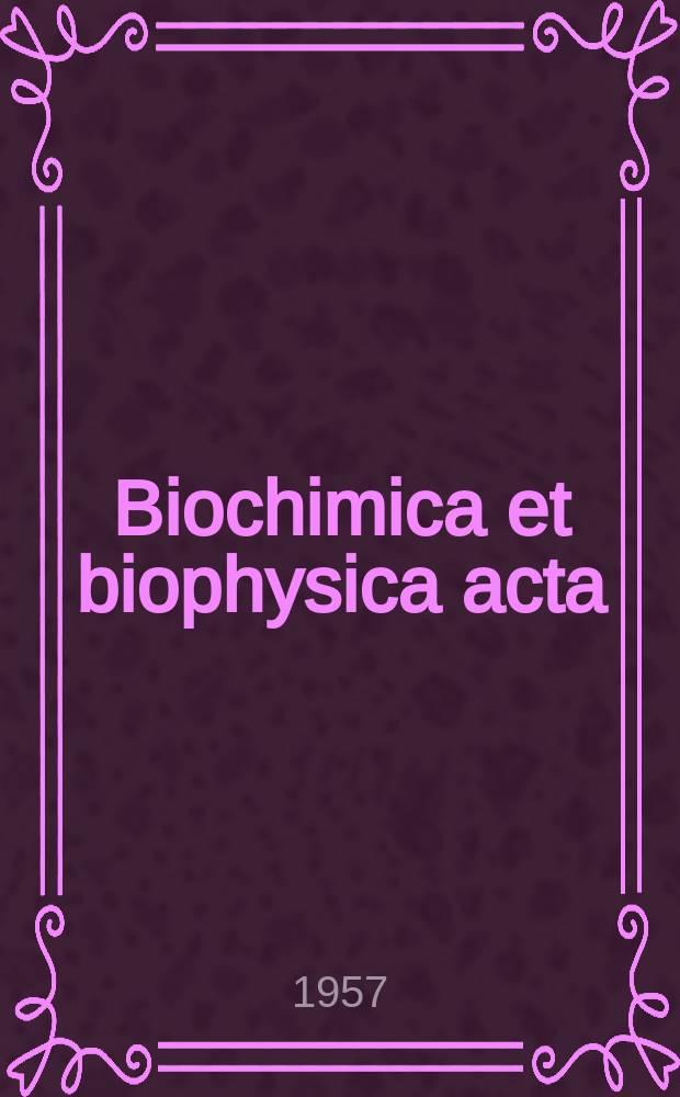 Biochimica et biophysica acta : International journal of biochemistry and biophysics. Vol.23, №2