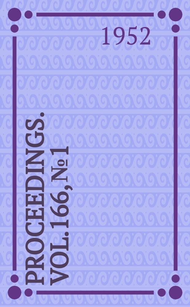Proceedings. Vol.166, №1