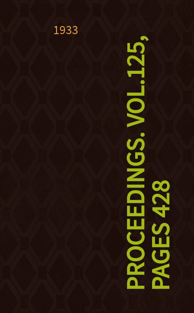 Proceedings. Vol.125, Pages 428