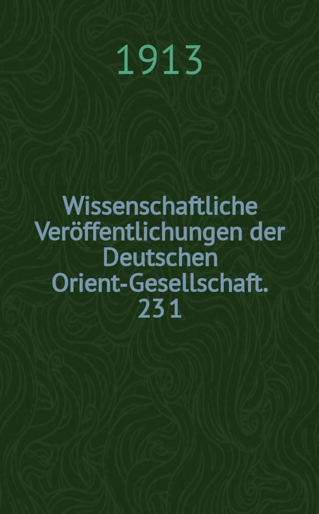 Wissenschaftliche Veröffentlichungen der Deutschen Orient-Gesellschaft. 23 [1] : Die Festungswerke von Assur = Бастион (крепостное сооружение) в Ашшуре
