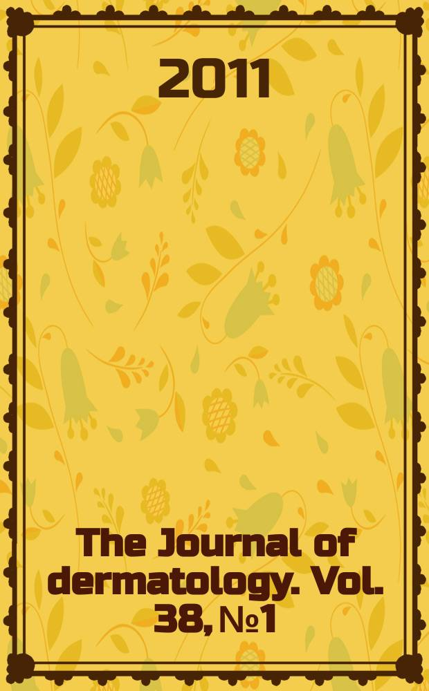 The Journal of dermatology. Vol. 38, № 1