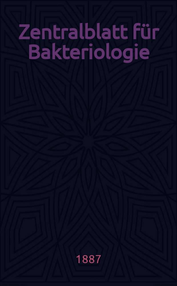 Zentralblatt für Bakteriologie : Med. microbiology, virology, parasitology, infectious diseases. Bd.2, №11