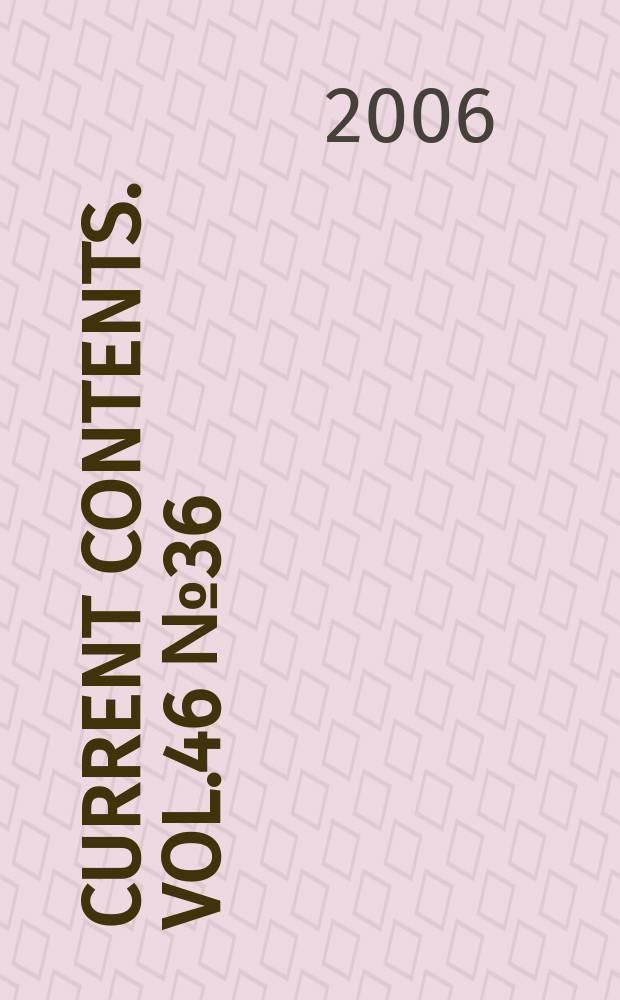 Current contents. Vol.46 № 36