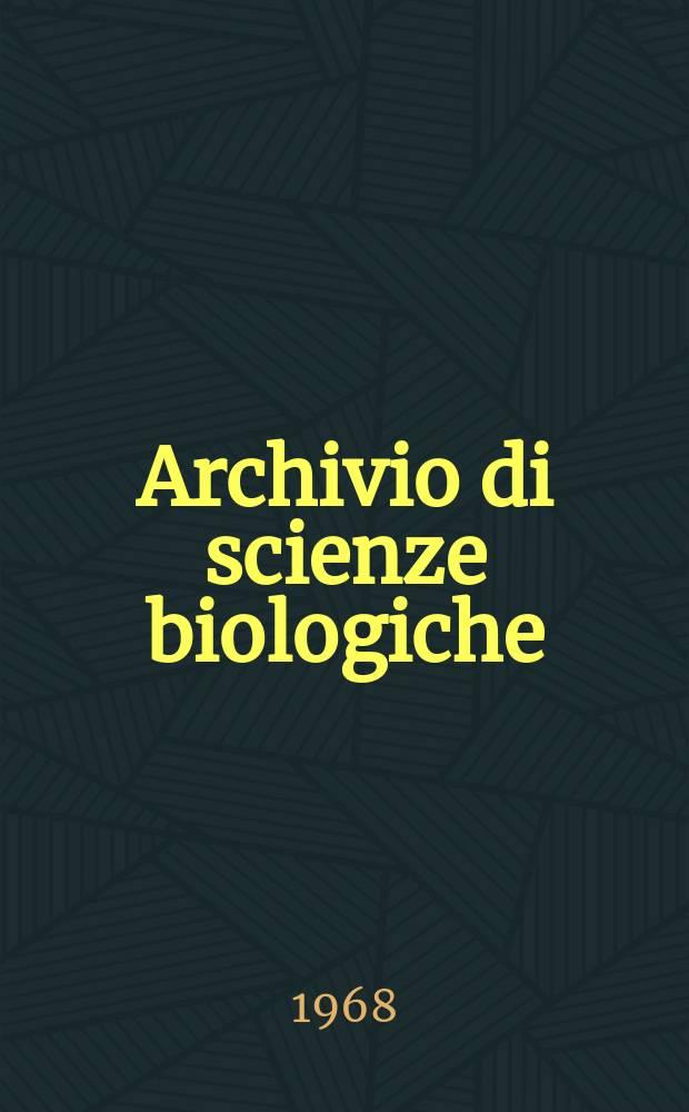 Archivio di scienze biologiche : Organo ufficiale della Società italiana di biologia sperimentale. Vol. 52, № 1