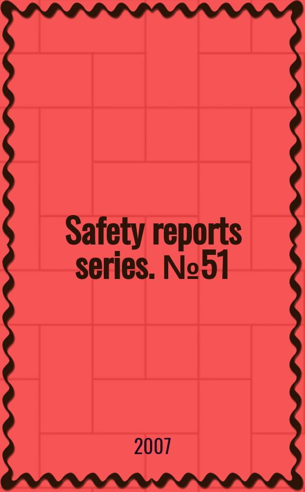 Safety reports series. № 51 : Radiation protection and NORM residue management in the zircon and zirconia industries