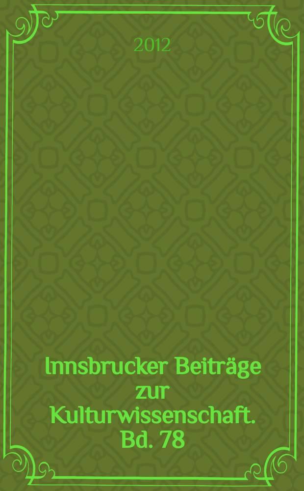 Innsbrucker Beiträge zur Kulturwissenschaft. Bd. 78 : Österreichisch-französische Kulturbeziehungen 1867-1938 = Австро-французские культурные связи 1867-1938