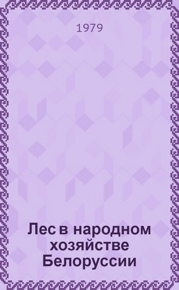 Лес в народном хозяйстве Белоруссии