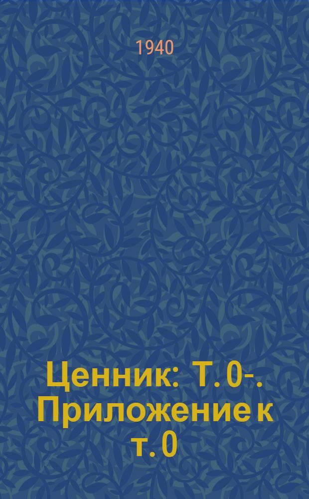 Ценник : Т. 0-. Приложение к т. 0 : Алфавитный указатель