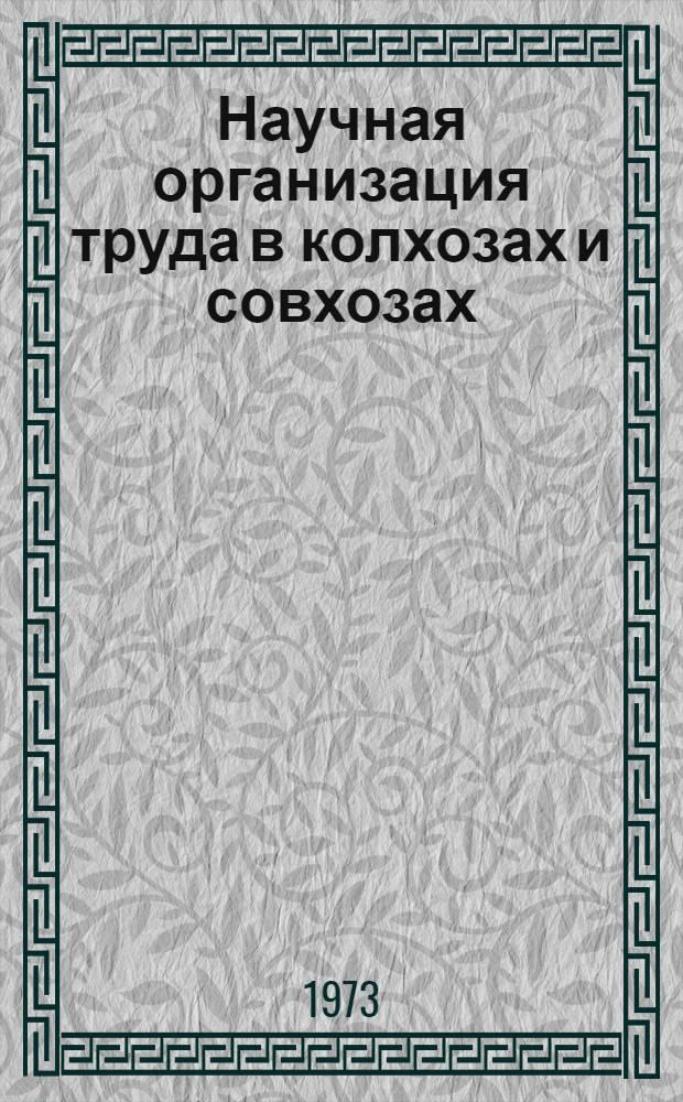 Научная организация труда в колхозах и совхозах : Сборник статей