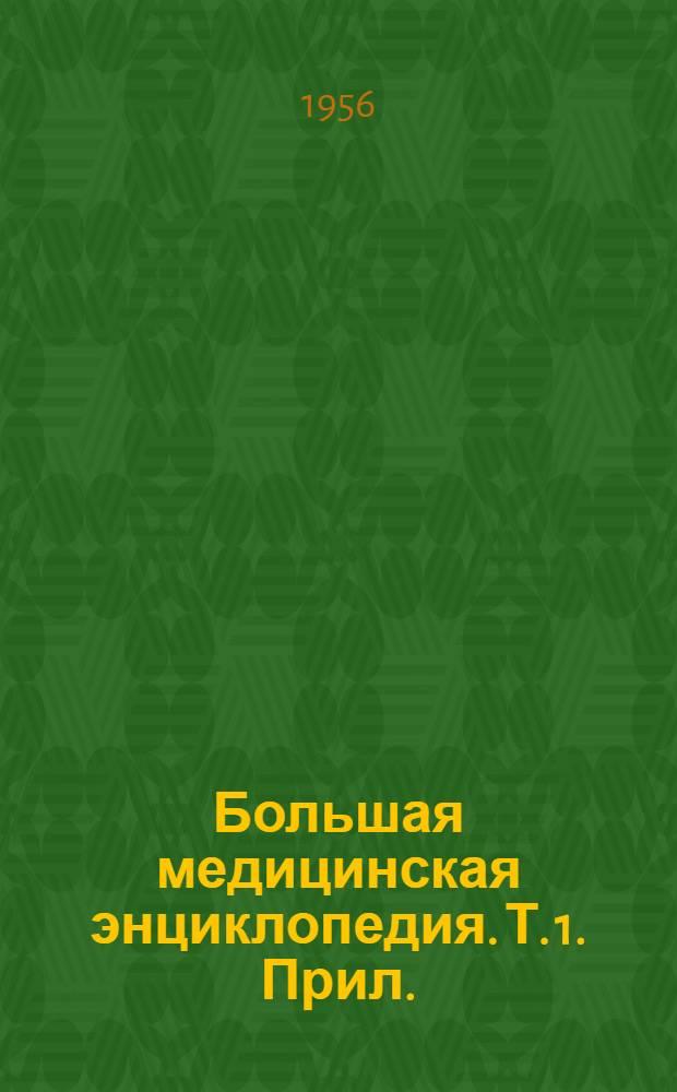Большая медицинская энциклопедия. Т. 1. Прил. : Перечень статей и терминов...