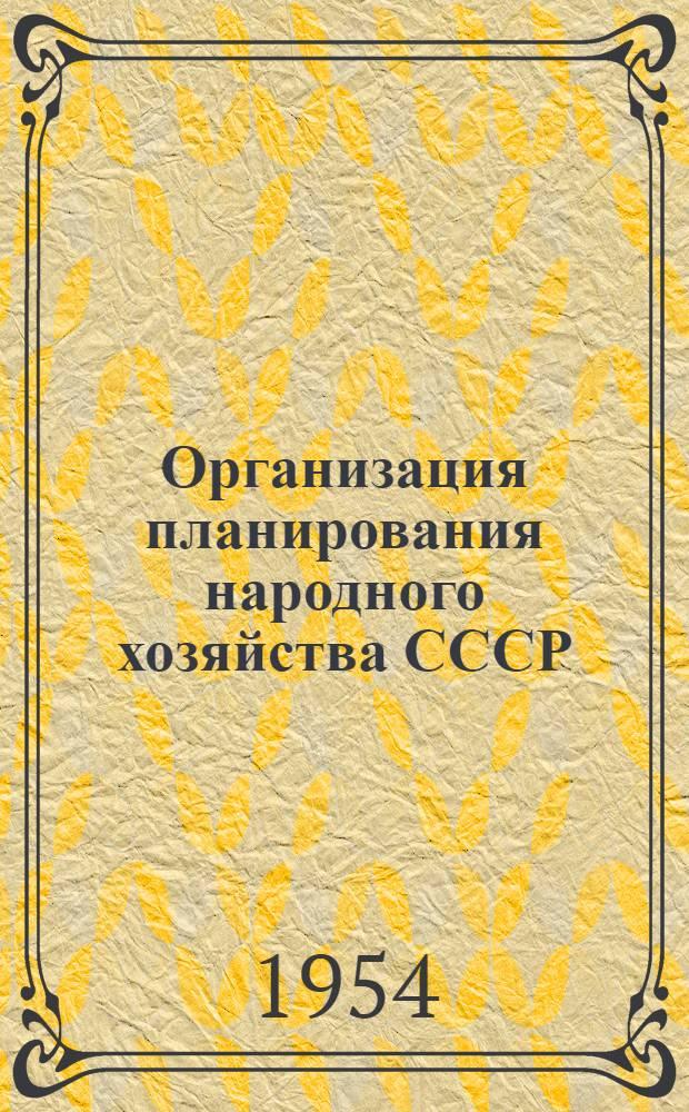 Организация планирования народного хозяйства СССР