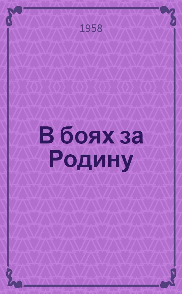 В боях за Родину : Очерки о ратных подвигах осоавиахимовцев на фронтах Великой Отеч. войны