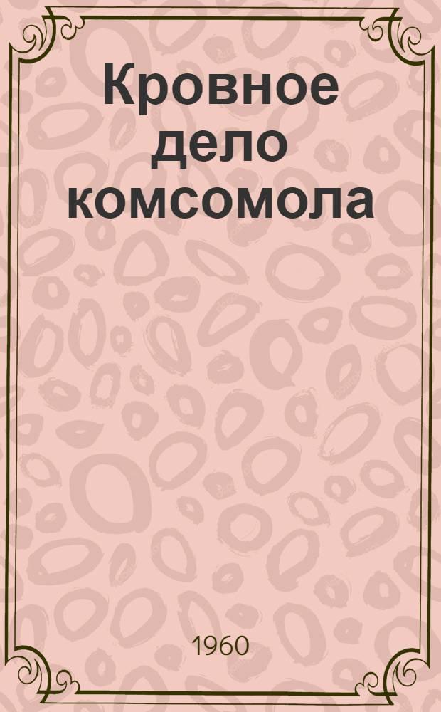 Кровное дело комсомола : (Об участии комсомольцев и молодежи Магнитогор. металлургич. комбината в борьбе за техн. прогресс)
