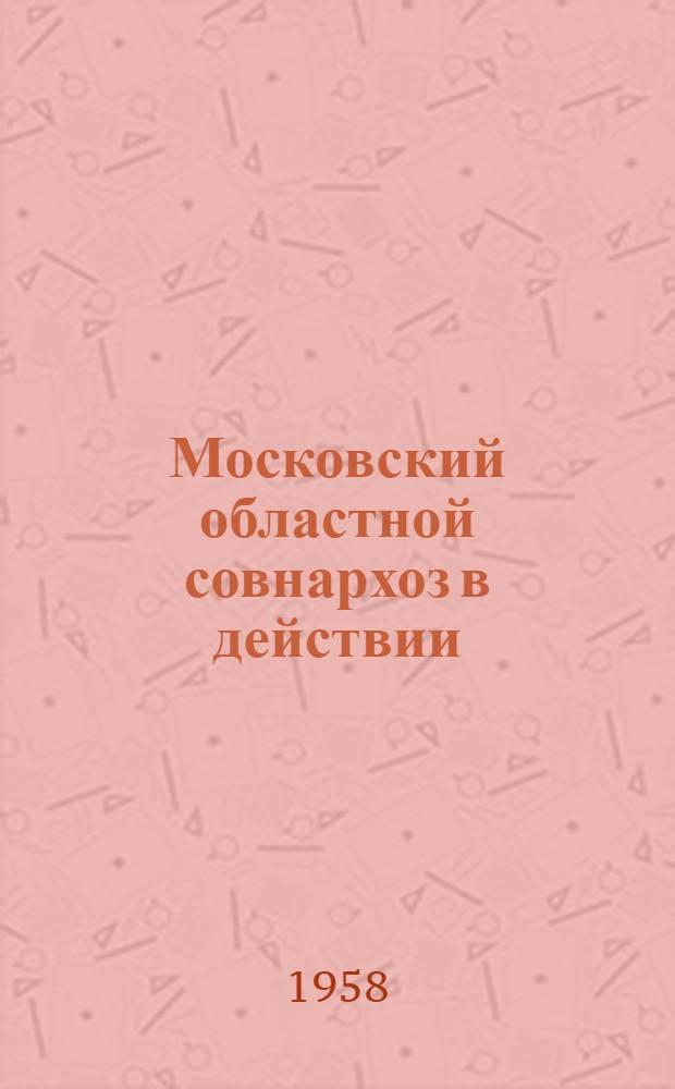 Московский областной совнархоз в действии