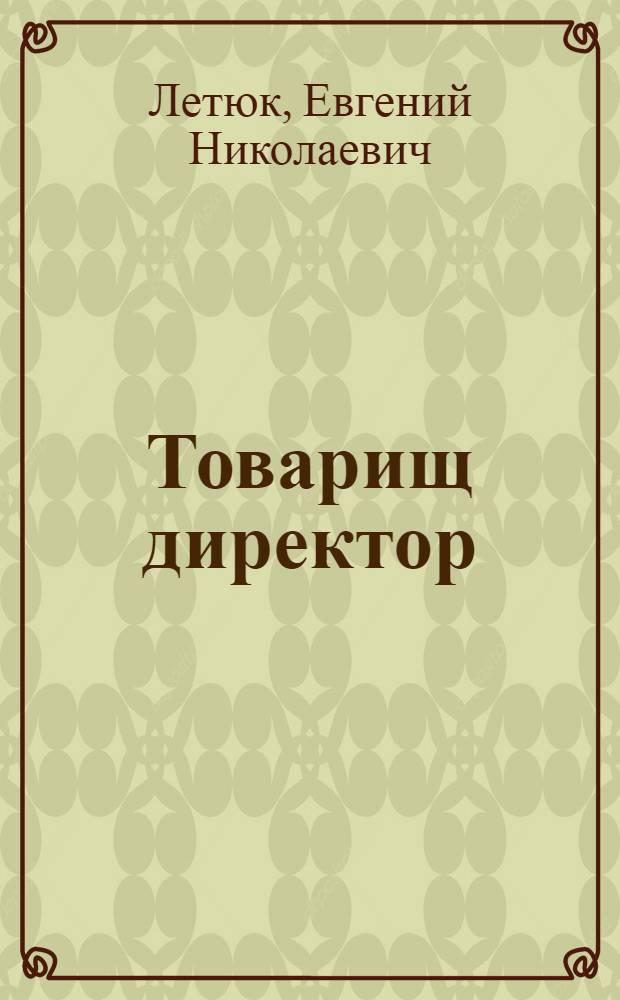 Товарищ директор : Очерк о дир. Донецкого металлург. завода И.М. Ектове