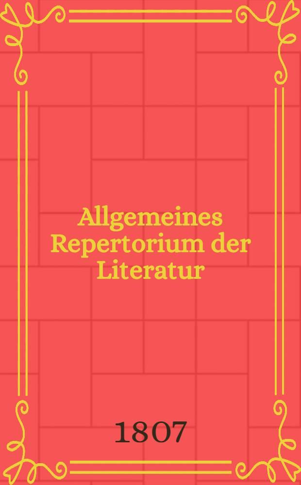 Allgemeines Repertorium der Literatur : Drittes Quinquennium für die Jahre 1796 bis 1800. Bd. 1 : enthaltend des systematischen Verzeichnisses in- und ausländischer Schriften