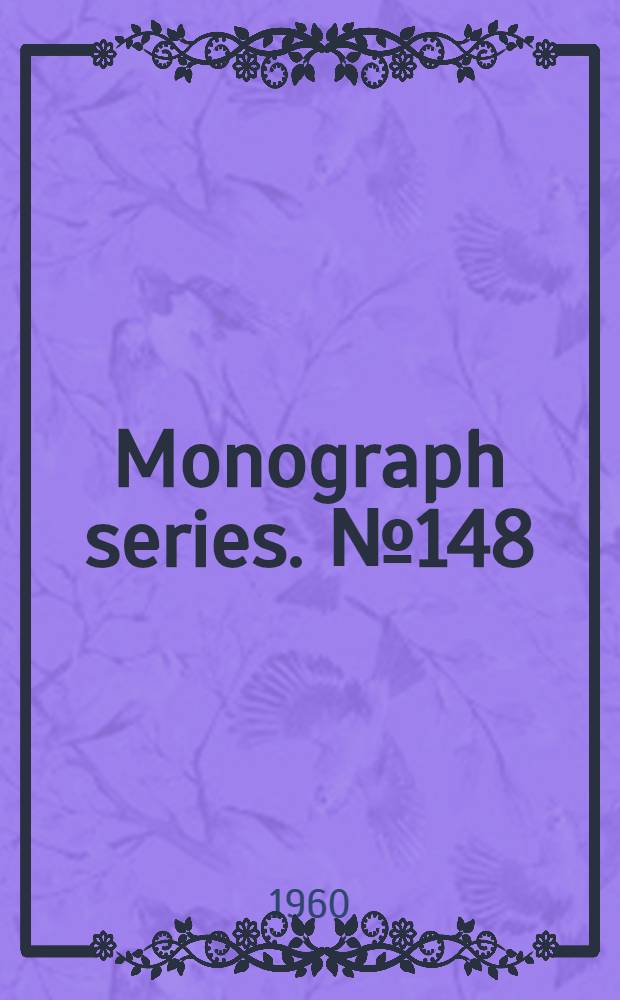 Monograph series. [№ 148] : Chemistry and technology of fertilizers