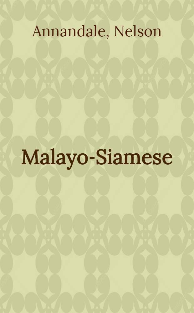 Malayo-Siamese