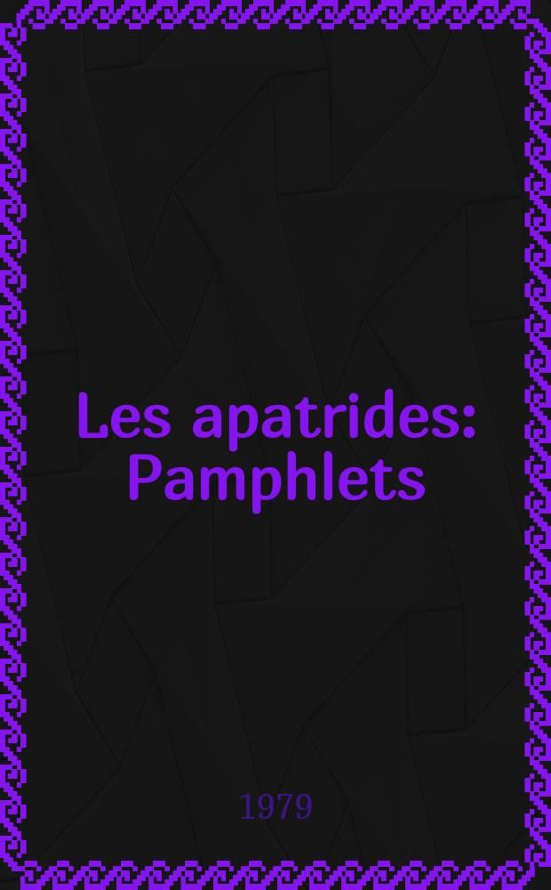 Les apatrides : Pamphlets : Пер. с укр