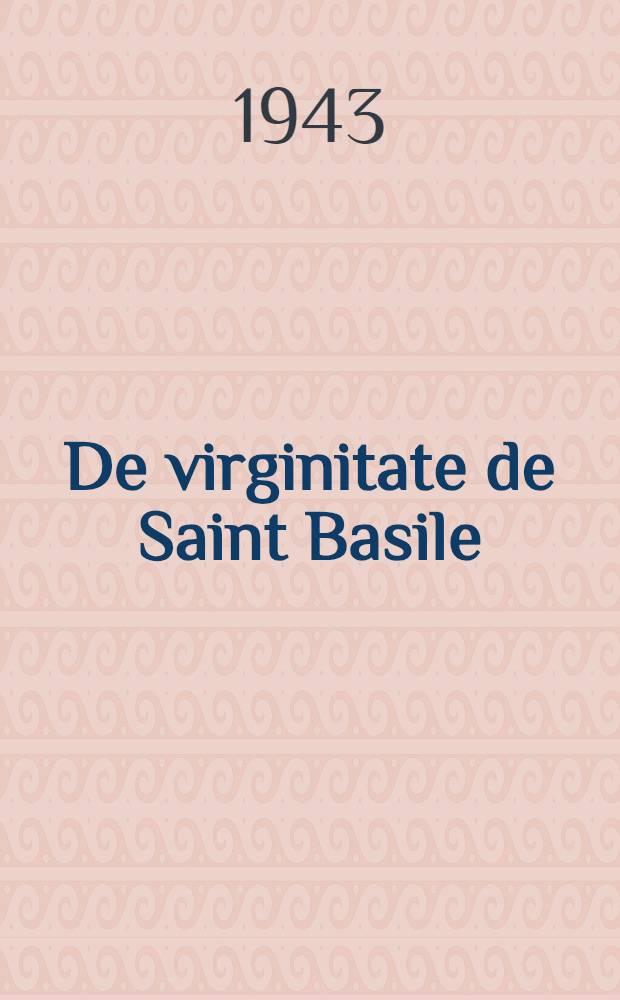 De virginitate de Saint Basile