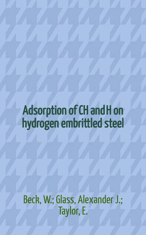 Adsorption of CH and H on hydrogen embrittled steel