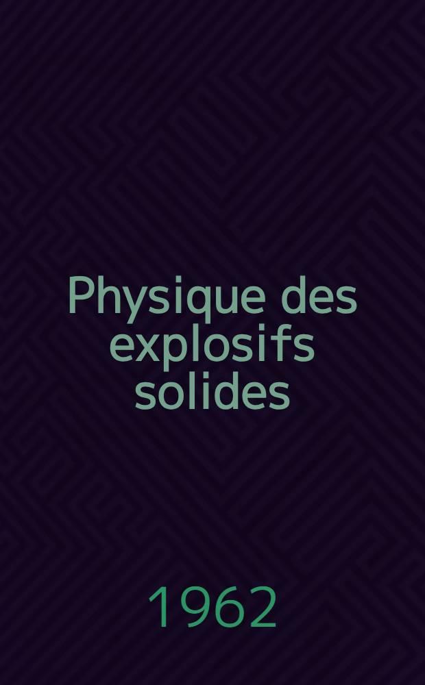 Physique des explosifs solides