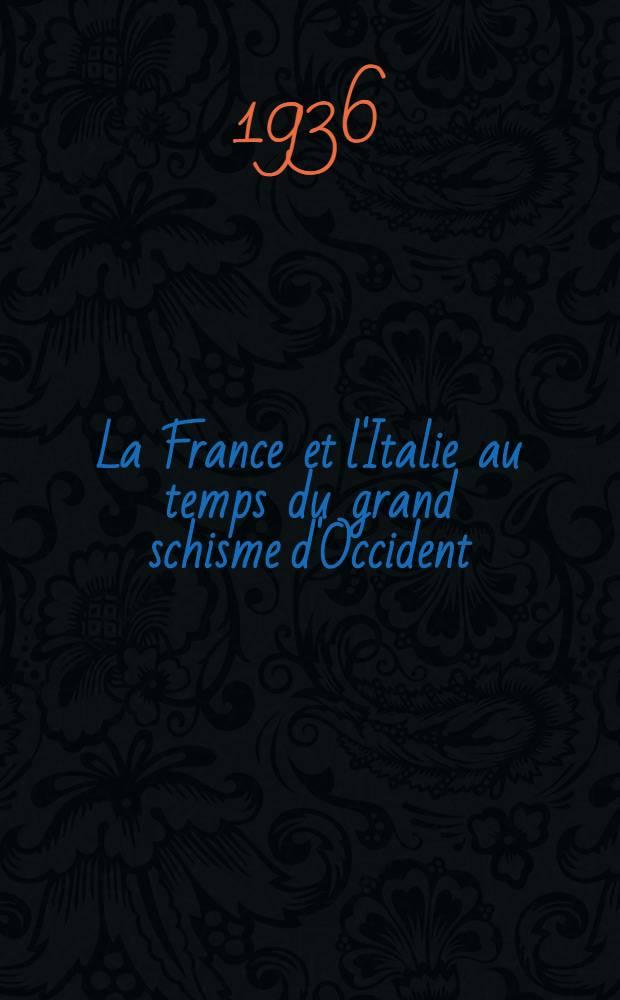 ... La France et l'Italie au temps du grand schisme d'Occident