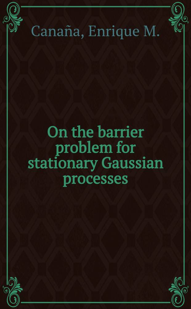 On the barrier problem for stationary Gaussian processes
