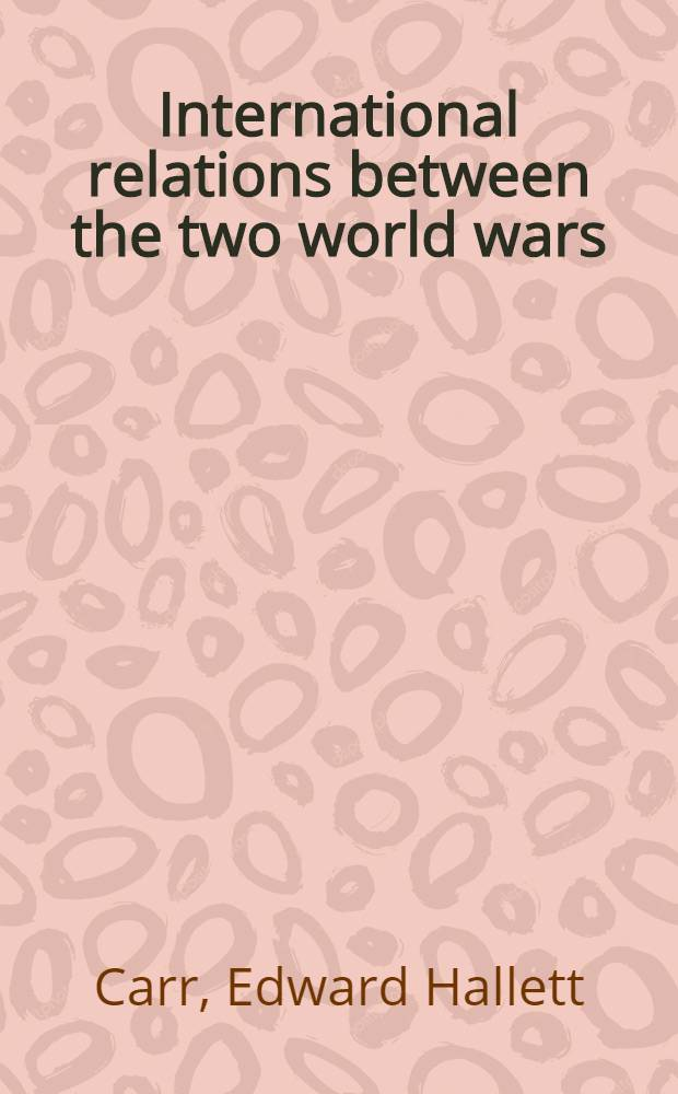 International relations between the two world wars (1919-1939)
