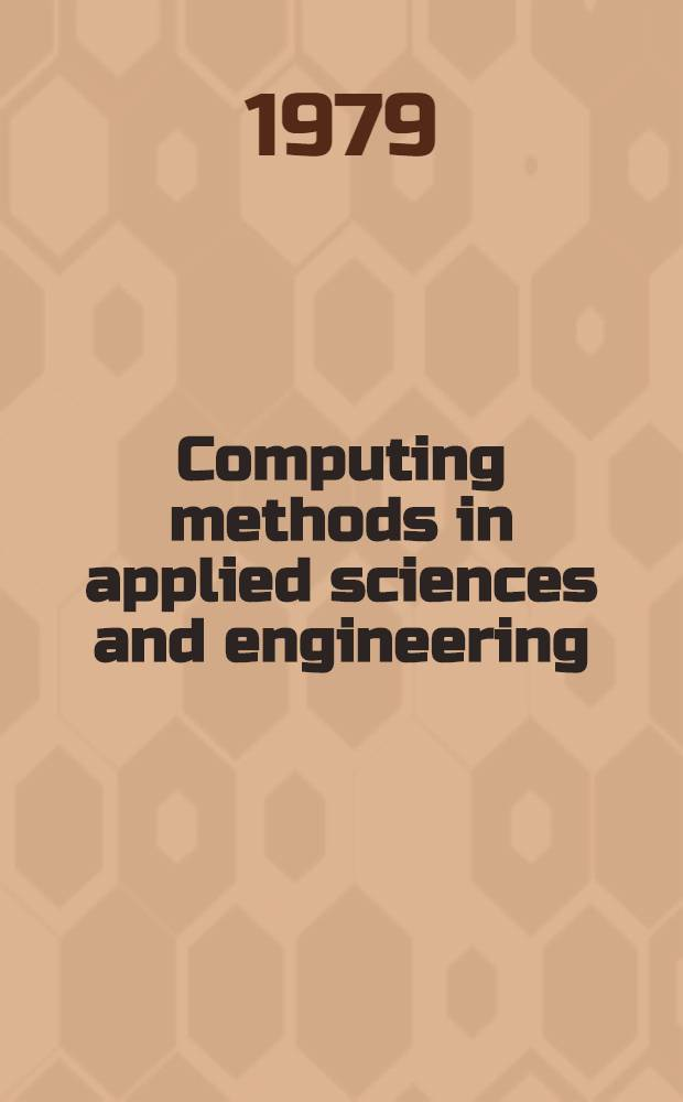 Computing methods in applied sciences and engineering : Proc. 1