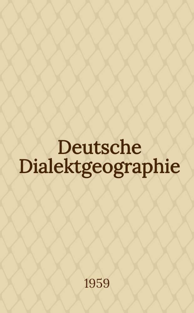 Deutsche Dialektgeographie : Berichte und Studien über G. Wenkers Sprachatlas des Deutschen Reichs. H. 53 : Die Mundart von Burgberg