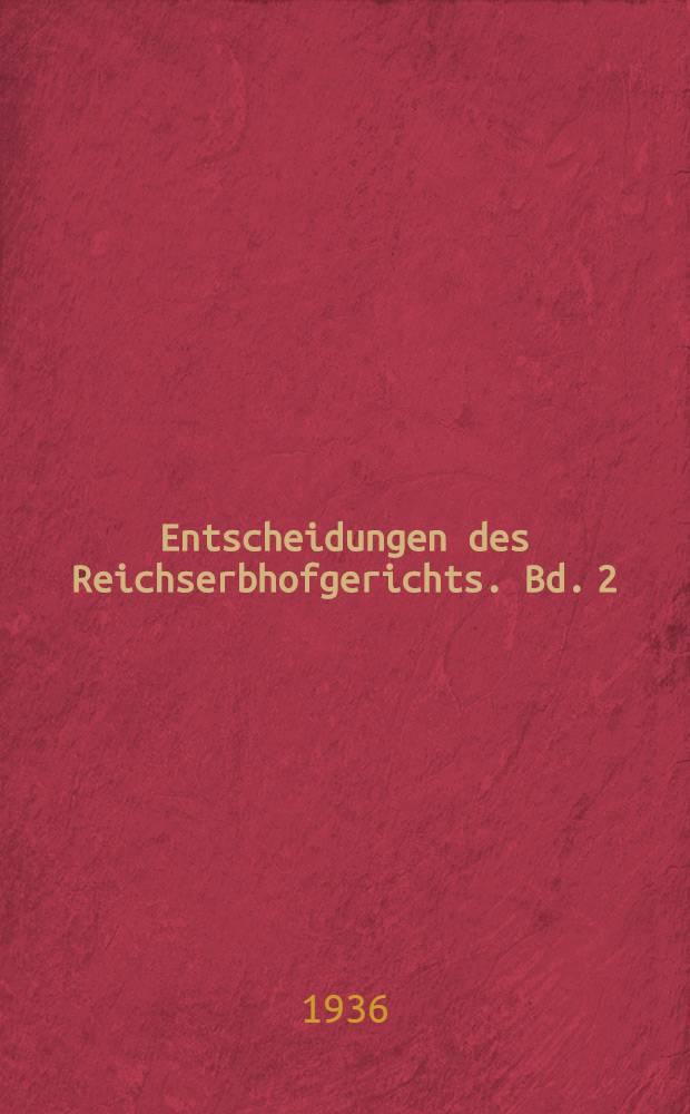 Entscheidungen des Reichserbhofgerichts. Bd. 2