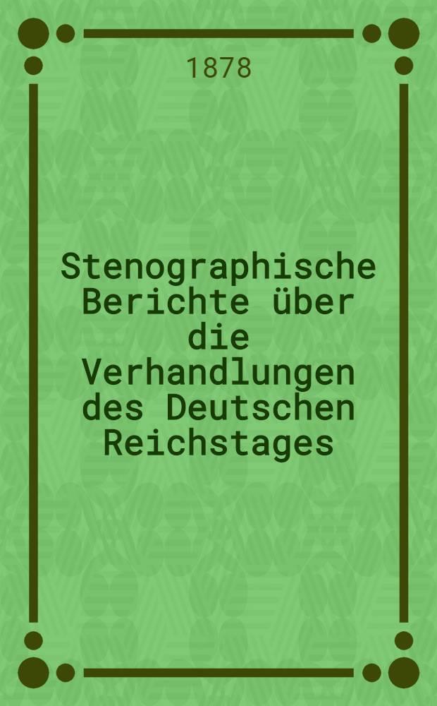 Stenographische Berichte über die Verhandlungen des Deutschen Reichstages : 3. Legislatur-Periode. II. Session 1878. Bd. 2 : Von der 31. Sitzung am 8. Apr. bis zur 56. Sitzung am 24. Mai 1878