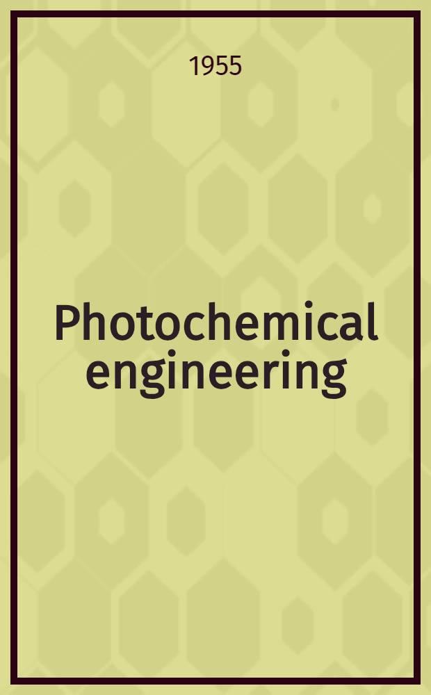 Photochemical engineering