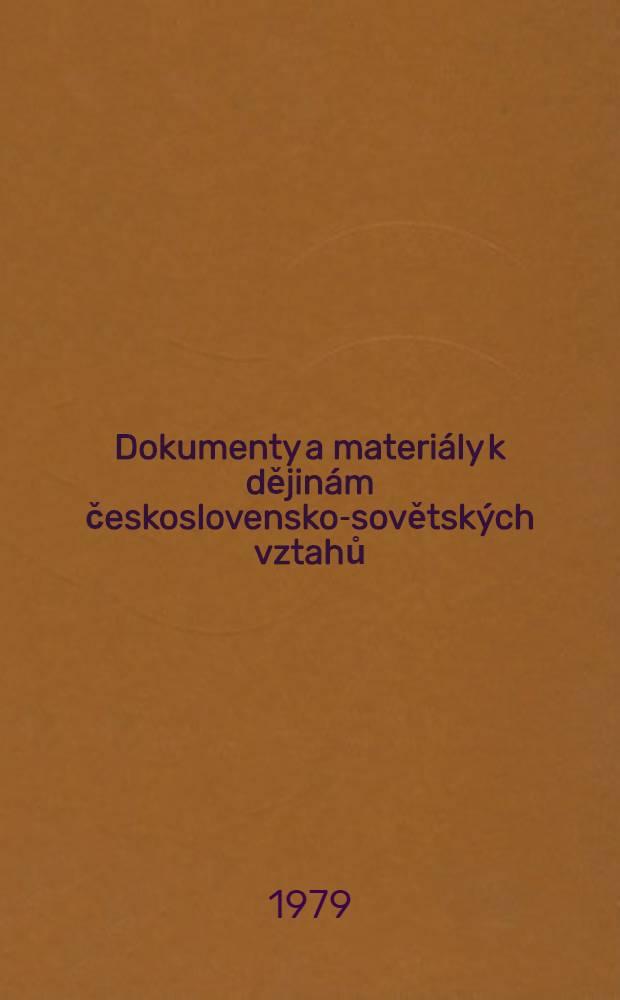 Dokumenty a materiály k dějinám československo-sovětských vztahů