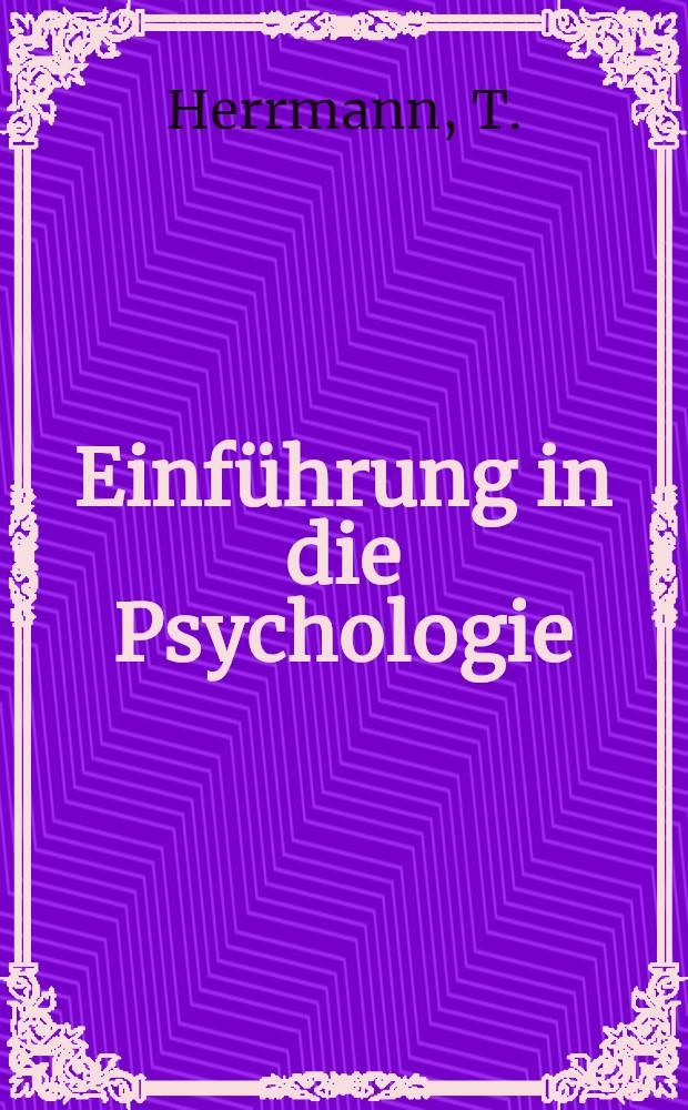 Einführung in die Psychologie : [In 7 Bd. 5 : Sprache