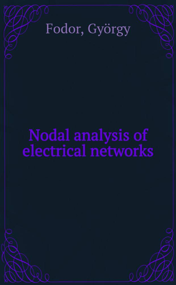 Nodal analysis of electrical networks