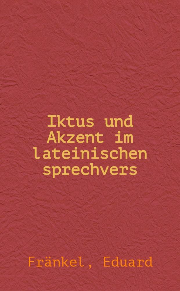 Iktus und Akzent im lateinischen sprechvers