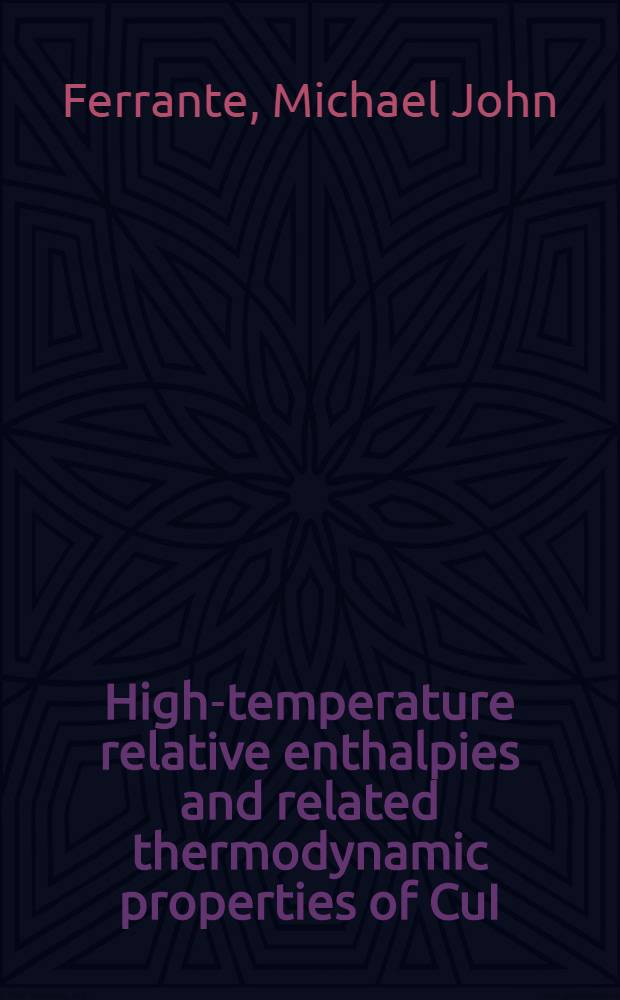 High-temperature relative enthalpies and related thermodynamic properties of CuI
