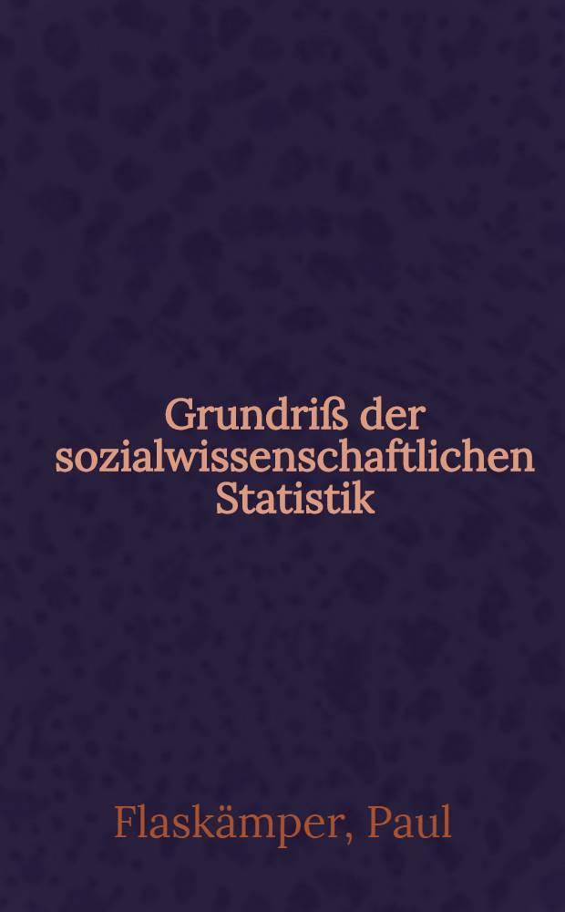 Grundriß der sozialwissenschaftlichen Statistik