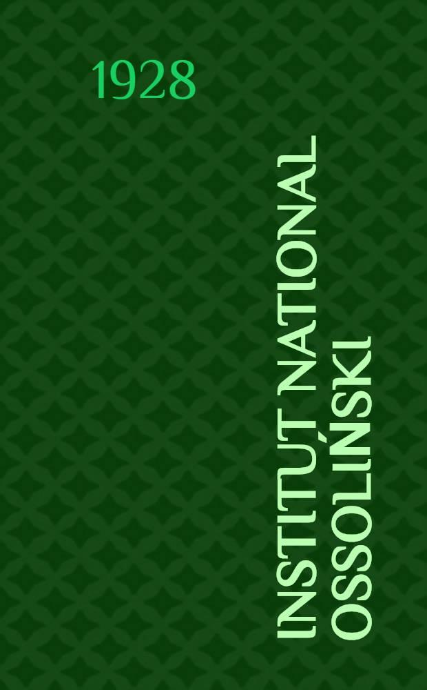 ... Institut national Ossoliński: esquisse historique traduit du polonais par Jean Narkiewicz Jodkc
