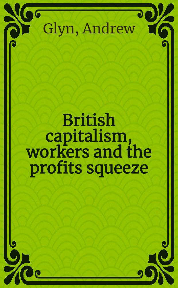 British capitalism, workers and the profits squeeze