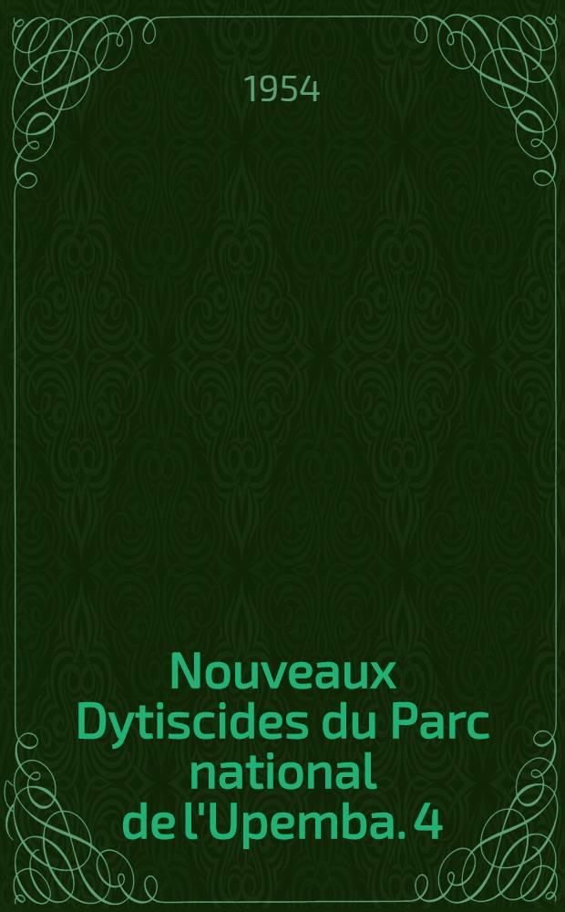 Nouveaux Dytiscides du Parc national de l'Upemba. [4]