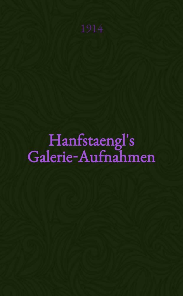 Hanfstaengl's Galerie-Aufnahmen : Katalog
