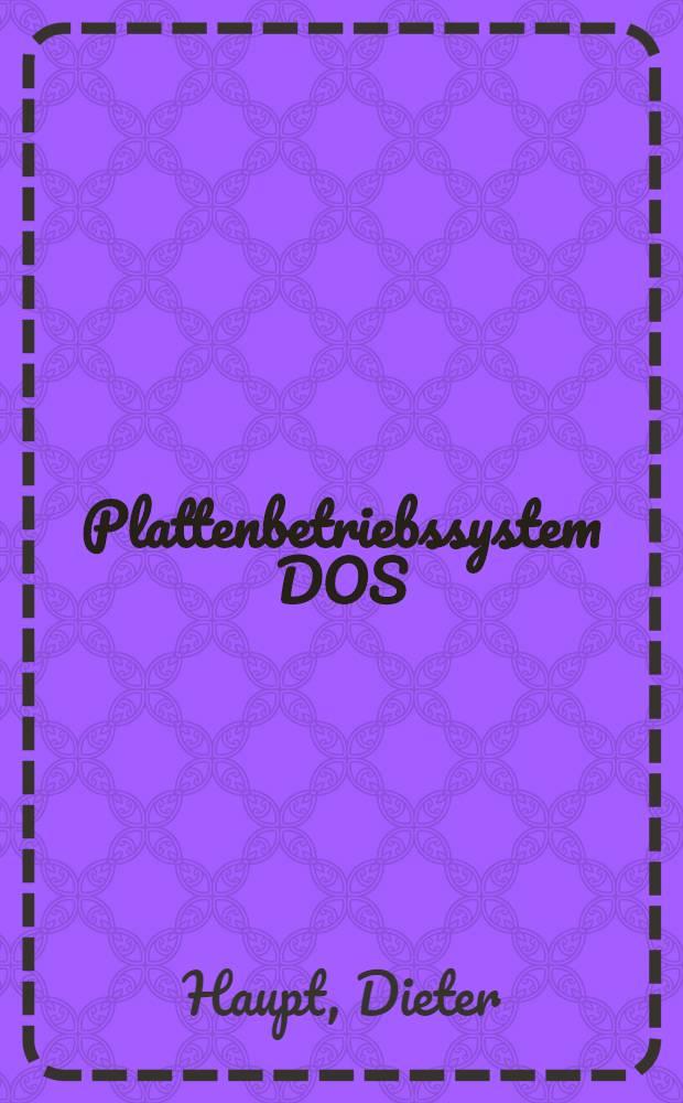 Plattenbetriebssystem DOS/ES : Makroprogrammierung