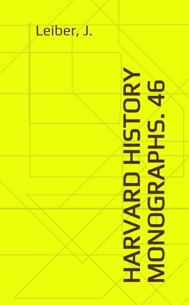 Harvard history monographs. 46 : Carroll Wright and labor reform