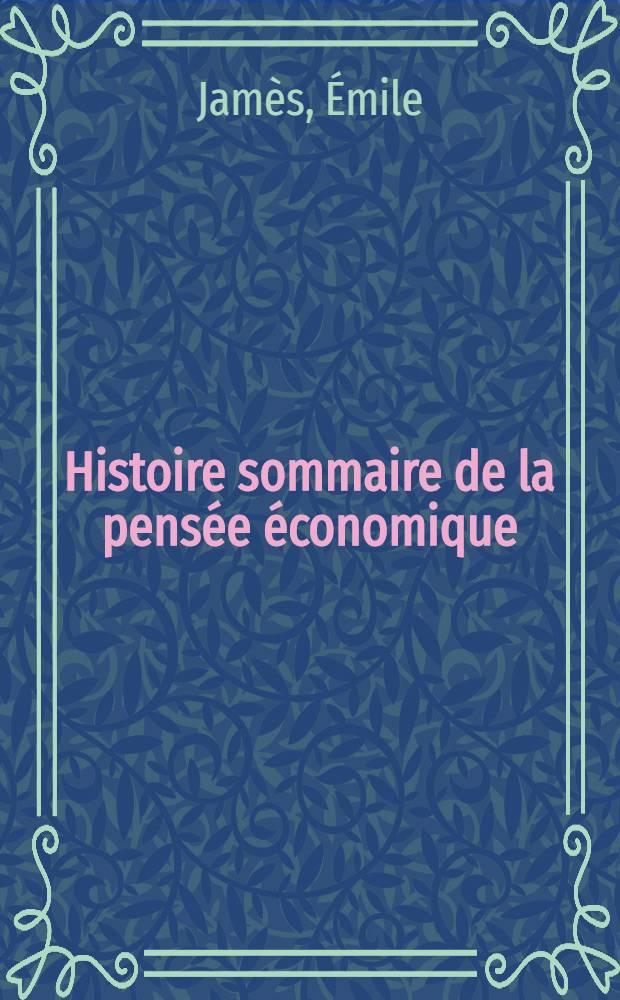 Histoire sommaire de la pensée économique